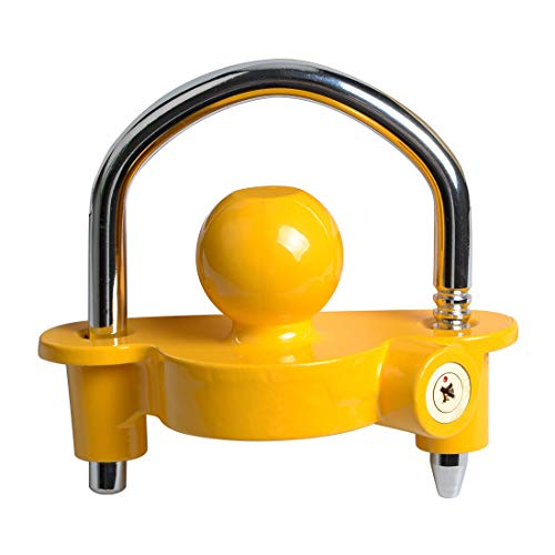 Haloview Universal Coupler Lock, Adjustable Storage Security, Heavy-Duty Steel