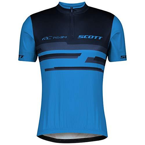Scott RC Team 20 Fahrrad Trikot kurz blau 2021: Größe: XL (54/56)