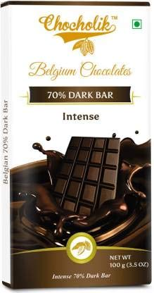 Chocholik Belgium Chocolates Dark 70% Intense Bar...