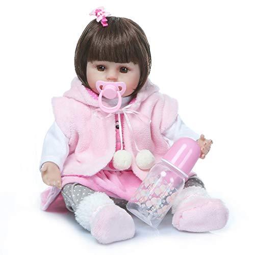 WW-ETWW 48cm Silikon Rebirth Baby Doll Lebhaft und realistisch Real Girl Doll Geburtstag