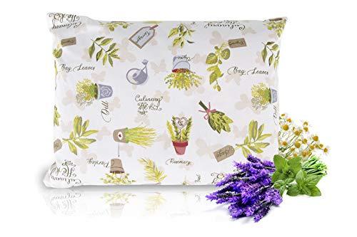 BSK Dream Herbal Almohada de Hierbas Hecha a Mano de Primera Calidad, Aprox. 25x35cm, Jardín de Hierbas