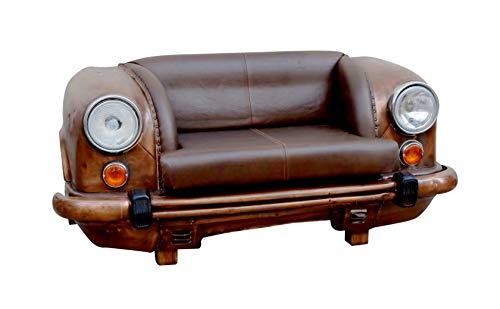 Kobolo Autosofa Zweisitzer Couch Front aus Metall und Leder