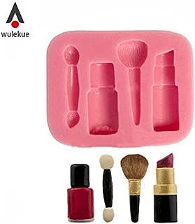 Silicone Lipstick Nail Polish Fondant Mold For Dessert Chocolate Pudding Cake tools