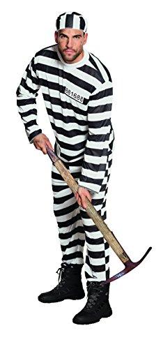 Boland 83818 – Adultes Costume des Prisonniers Jackson, Noir