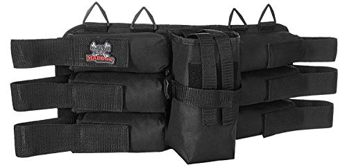 Maddog Entry Level Paintball Harness Pod Pack Belt with HPA CO2 Tank Holder Pouch - 6+1
