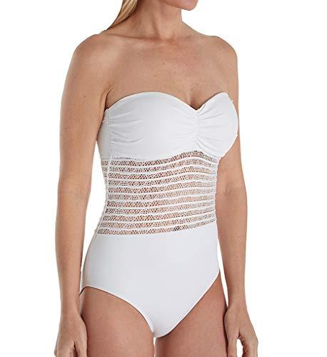 Bleu Rod Beattie Women's Get in Line Bandeau One Piece Swimsuit L19242 8 White