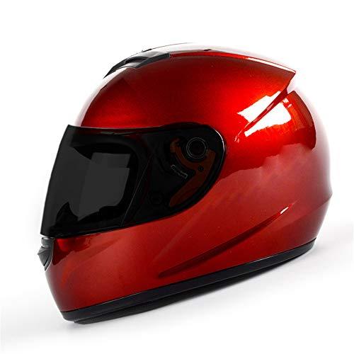 MOTUO Motorcycle Helmet Full Face Motorcycle Helmet for Women Men Comfortable and Breathable Motorbike Helmet Incl. Black Visor,Red,M