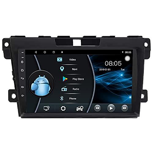 AEBDF Estéreo para Coche Android 10.0 para Mazda CX-7, Radio de Coche con Pantalla táctil de 9 Pulgadas con navegación GPS Bluetooth Reproductor Multimedia para Coche,6 Core WiFi 4G 2+32(1din)