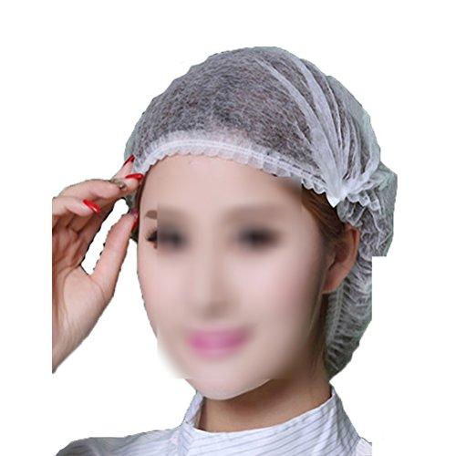 ROSENICE Einweghauben Duschhauben 18 Zoll Schwesternhauben Baretthauben für Baden Kochen 100pcs