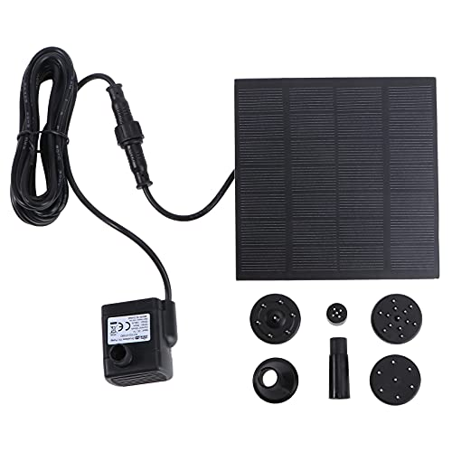 UEETEK 7V 180L/H Solar Power Water Pump Garden Fountain Submersible Pump with Suckers (Strong Direct Sunlight is Needed) - Random delivery of 1.2W or 1.8W