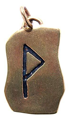 Kiss of Leather Runen Anhänger Wunjo aus Bronze Nr. 94