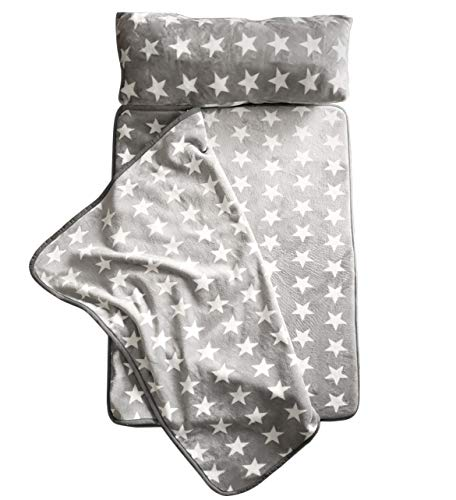 Milliard -Memory Foam- Nap Mat Roll Stars with Fuzzy Blanket...