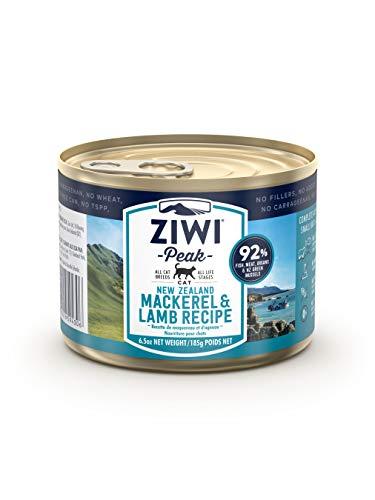 ZIWI Peak Canned Mackerel & Lamb Recipe Cat Food (Case of 12, 6.5 oz. Each), Model:ZPCCM0185C-US