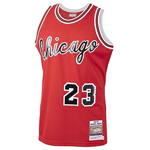 Camiseta de baloncesto personalizada Michael Chicago NO.23 Bulls Jordan 1984 85 Hardwood Classics Novato Jersey Transpirable Deportes Manga Corta para los Hombres Rojo