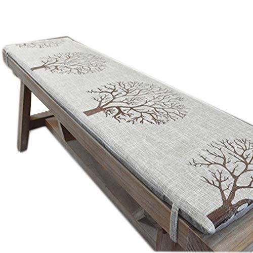 sunshinelh Cojín para banco de jardín de 2 y 3 plazas con lazo, almohadilla antideslizante para asiento de banco de madera, colchón de repuesto para columpio interior y exterior (A,40 x 160 cm)