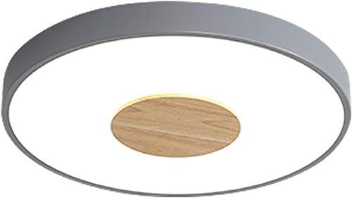 Wandun Plafonnier, Nordic LED plafonnier Chambre Couloir allée Couleur Rond Bois Petit ApparteHommest Salon Foyer éclairage intérieur Simple (Couleur   Lumière Blanche, Taille   30  5cm)
