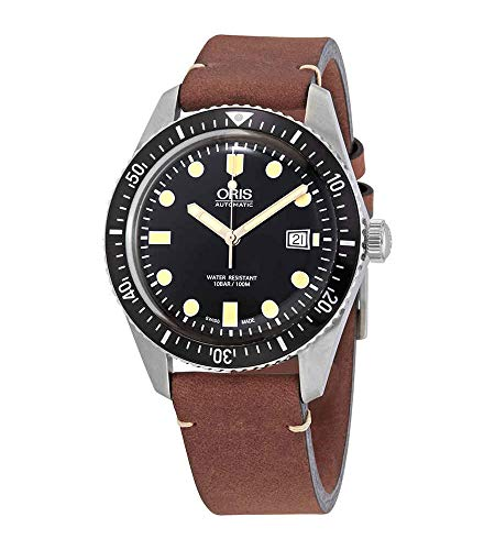 Oris Divers 73377204054LS - Orologio da uomo in acciaio con cinturino in...