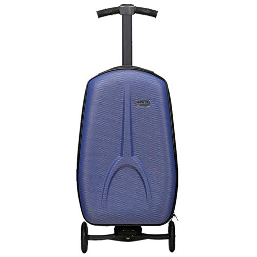 iubest Scooter Luggage for Adult Carry on Suitcase Foldable Trolley Case Bags for Travel, Business and School Men 50 liter, 18 inches (Blue)