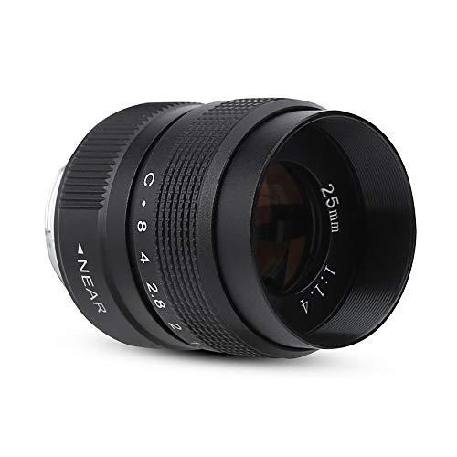 YLLN Lente de cámara 25 mm F / 1.4, Adaptador C-m4 / 3 Micro-Singles Foco Fijo estándar Durable para Epl5 Epm3 Epl7 Om-d C Lente de Montaje Utilizada para Macro