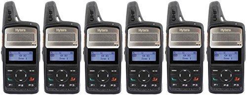 Hytera PD365 UHF 3 Watt Compact Analog & Digital Radio Zweiweggeräte 6 Stück
