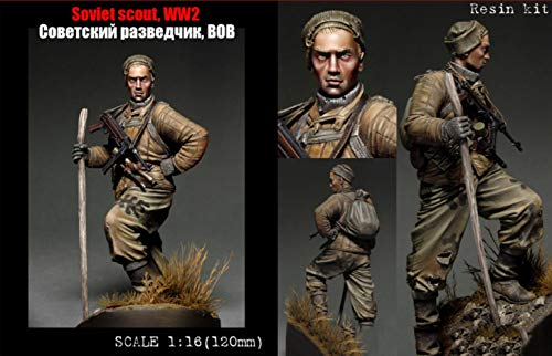 XINGCHANG Scale Models 1/16 120Mm Soviet Scout Soldier 120Mm Figure Historical Resin Model