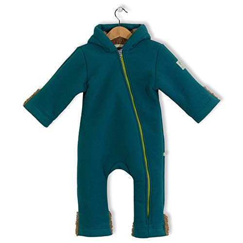 bubble.kid berlin - Winter Overall Anu, Tec Doublefleece, Grösse 74-80 (6-12 Monate), Farbe: Petrol