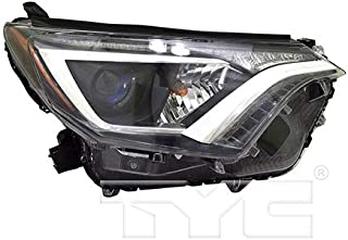 CarLights360: Fits 2016 2017 2018 Toyota RAV4 Headlight Assembly Passenger Side (Right) CAPA Certified w/Bulbs - Replacement for TO2503247 (Vehicle Trim: LE ; XLE)