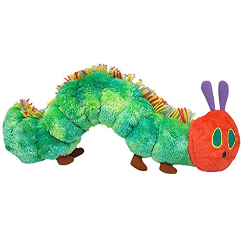 Eeauytr Caterpillar juguete de peluche, la oruga muy hambrienta, gran juguete suave, muy bonito regalo para niños de 40 cm