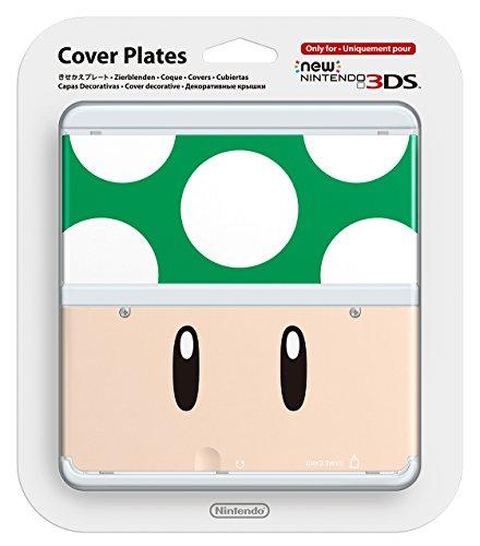 Nintendo New 3DS Cover Plate Mushroom Green no. 008