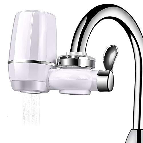 PowerDoF Wasserhahn Wasserfilter, Leitungswasserreiniger Hocheffizienter und spritzwassergeschützter Haushaltsküche Gesunder Wasserhahn Wasserfilter