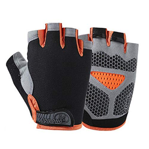 New Cycling Anti slip Anti sweat Men Women Half Finger Gloves Breathable Anti shock Sports Gloves Bike Bicycle Glove-a39-L