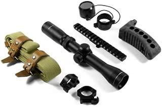 "AIM Sports 2-7x32 Mosin Nagant Optics Rifle Scope Combo Kit, Matte Black with M44/Mosin Nagant Scope Mount, 1"" Rings & Weaver Base"