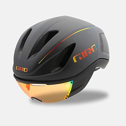 Giro Vanquish MIPS Adult Road Cycling Helmet - Medium (55-59 cm), Matte Grey Firechrome (2020)