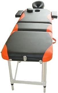 HOMCOM Cama De Masaje Aluminio Plegable 185x60cm Tatuaje Terapia Cama Negro Naranja Nuevo
