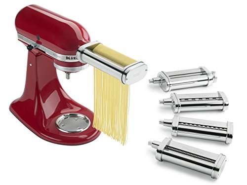 KitchenAid KSMPDX Stand Mixer Attachments Pasta Roller and Cutter Set, One Size, Stainless Steel