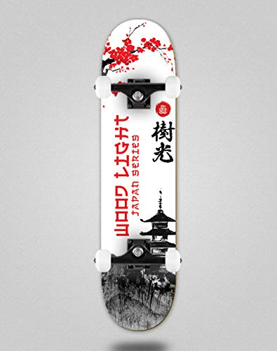 Wood light Monopatín Skate Skateboard Complete Japan Series Palace (7.875)