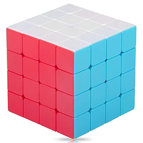 SISYS Zauberwürfel 4x4x4 Speed Cube, 4x4 Magic Puzzle Cube Würfel Aufkleberlos Speedcube 3D Puzzle Spiele für Kinder Erwachsene