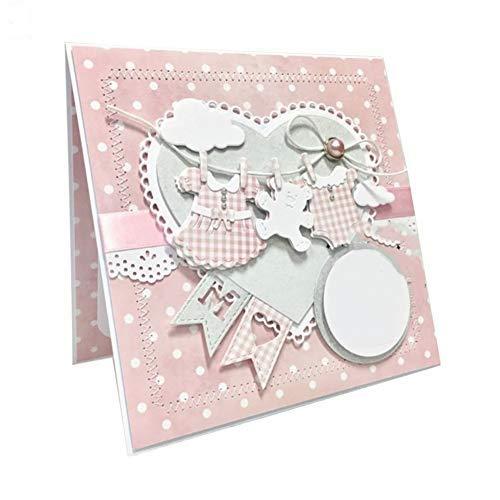 Kuizhiren1 Troqueles de corte DIY para ropa de bebé, troqueles de corte de metal para manualidades, álbumes de recortes, tarjetas de papel, plantilla – 2#