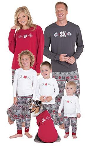 PajamaGram Family Christmas Pajamas Set - Cotton Family Pajamas, Gray, Men, XXL