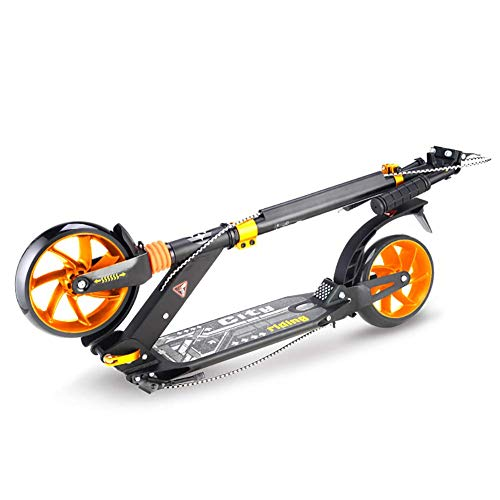 Learn More About PLLP Outdoor Sports Scooter Kick,Folding Kick for 130-185Cm Adult, Shock Absorbing ...