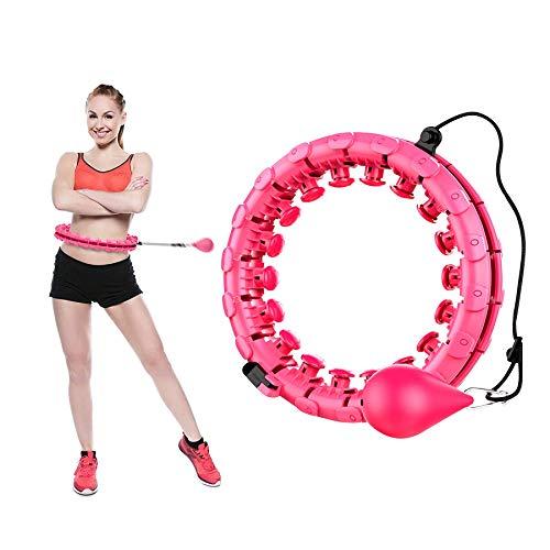 Shengruili Hula Hoop per Dimagrire, Cerchio Fitness Hula Hop,Cerchio di Fitness Rimovibile,Hula Hoop per Ginnastica da Dimagrire,Hula Hoop Fitness Adulti,Ponderato Fitness Hula Hoop (R)