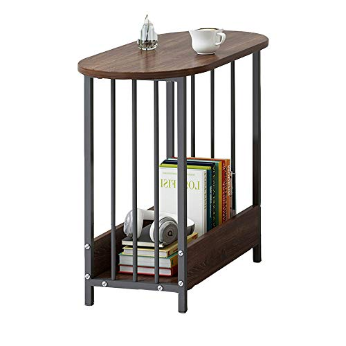 YNN Table Table de Chevet Sofa Canapé à 2 Niveaux Table d'appoint Téléphone/Café/Table d'appoint/Étagère de Rangement Ménage Salon 60X29X52cm 3 Couleurs (Couleur : C)