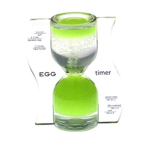 Paradox Sanduhr, Eieruhr in grün, 10 cm