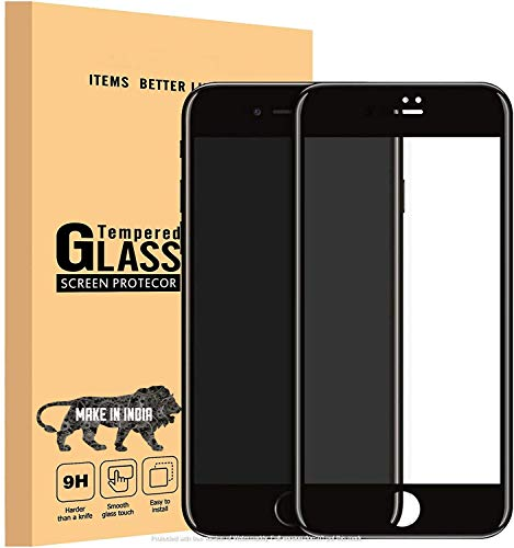 divine edge to edge full screen coverage tempered glass screen protector for apple iphone 7/ iphone 8 / iphone se 2020 with installation kit (black color)