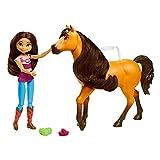 Spirit y Fortu Abrazo Muñeca con caballo de juguete, momento abrazo (Mattel GXF67)