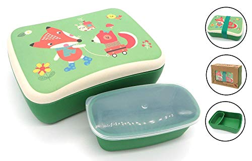 Fiambrera de Bambu Infantil - Pack Tuper y Sandwichera de Fi