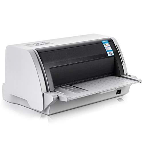 WLLIT Imprimante Stylet, Fournitures de Bureau, Facture, imprimante de Documents, imprimante par câble USB à Grande Vitesse A4 à Colonne Verticale de 82 colonnes-White