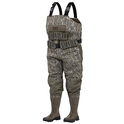 Frogg Toggs Grand Passage Breathable Bootfoot Chest Wader, Cleated Outsole, Mossy Oak Bottomland, Size 11