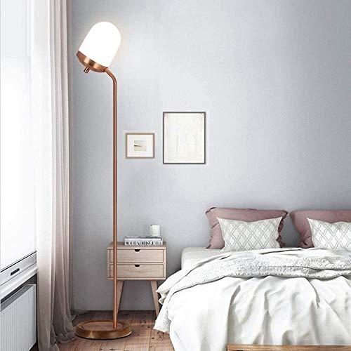 Lámpara De Pie Durable Lámpara De Pie Lámpara De Pie LED Moderno Minimalista Sala De Estar Dormitorio Estudio De La Cama De La Cama De La Cabecera Lámpara De Columna De Personalidad Creativa Hyococ