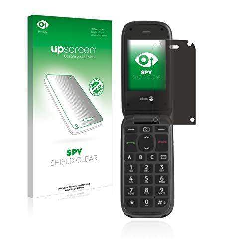 upscreen Anti-Spy Blickschutzfolie kompatibel mit Doro PhoneEasy 613 Privacy Screen Sichtschutz Bildschirmschutz-Folie
